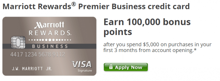 expired chase marriott business card 100000 point offer