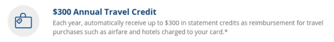 chase sapphire reserve $300 travel credit