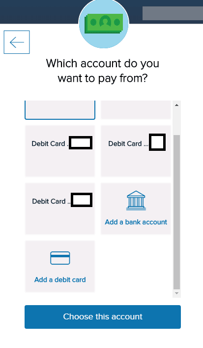 Capital One Is Showing Debit Cards As A Credit Card Payment Option