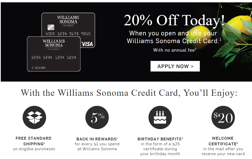 Williams-Sonoma Visa Card From Comenity