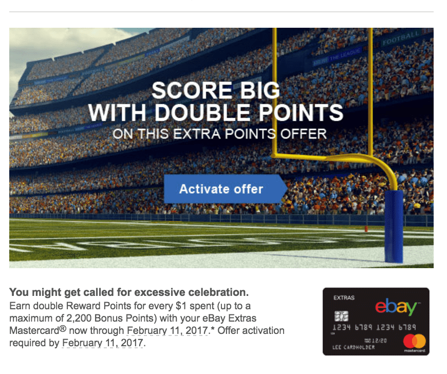 Ebay Paypal Credit Card Double Points Offer Targeted Doctor Of Credit