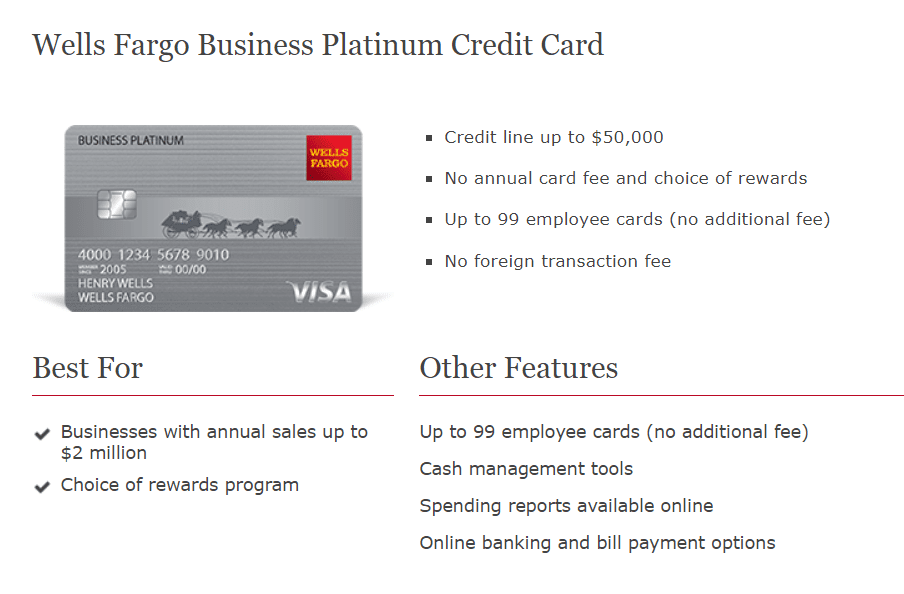 Expired] Wells Fargo Business Platinum Credit Card Review - $8