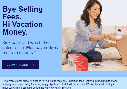 Expired Targeted Ebay No Seller Fees On Up To 5 Items Doctor Of Credit