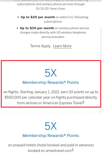 American Express Platinum Adds $500,000 Limit To 5x On ...