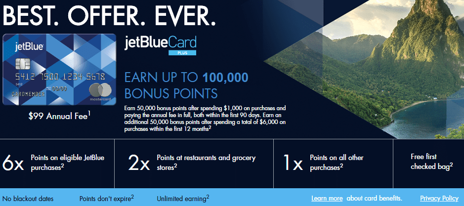 available in flight barclays jetblue plus card  100000