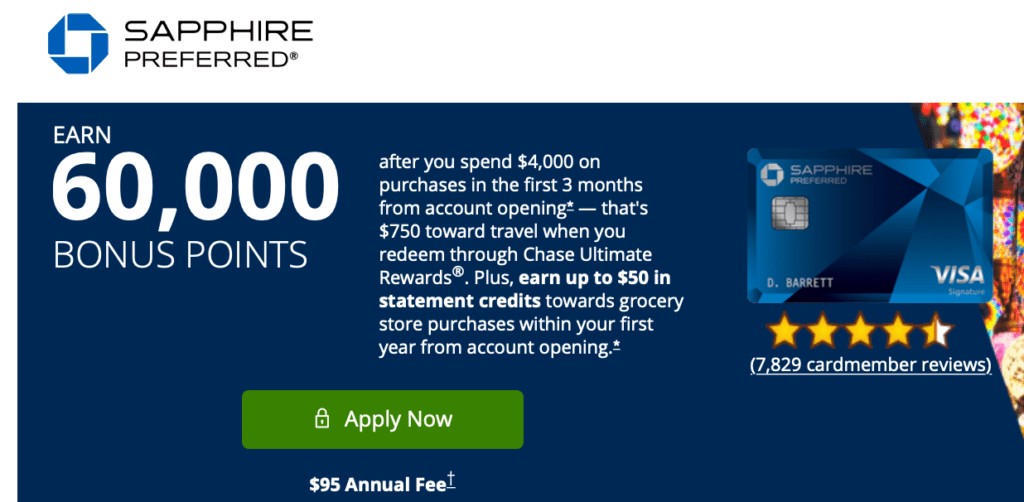 New Chase Sapphire Preferred 60,000 Points + $50 Signup Bonus Offer (Referral & Public Offer